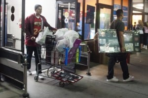 Lodi Shoppers Brave Black Friday Sales : Customers filled their carts with deals during Wal-Marts early Black Friday sale in Lodi Thursday, Nov. 22, 2012.