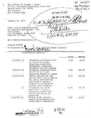 Lodi Unified School District legal invoices