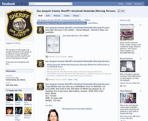 San Joaquin County Sheriff's Department hopes Facebook page will help solve long-inactive cases