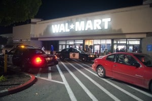 Lodi Shoppers Brave Black Friday Sales: Five Lodi Police cars were called in to control the crowd at Wal-Mart during the store's Black Friday early opening on Thursday, Nov. 22, 2012.  - Ian Jonsson/News-Sentinel
