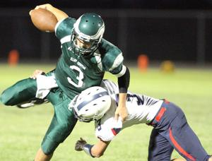 Ben Huckaby runs wild as Eagles earn first win