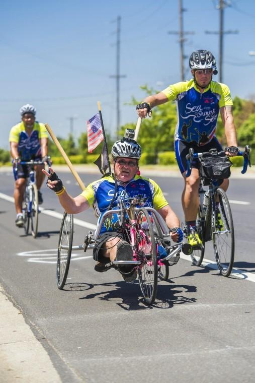 Veterans riding from 'Sea to Shining Sea'