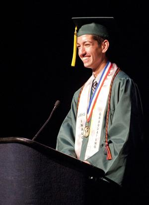 Liberty Ranch High School valedictorian Anthony Tiapon: Work hard — but enjoy the moment, too