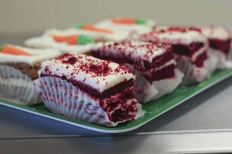 Red velvet, key lime mousse, bear claws in Galt at M&W Dutch Bakery