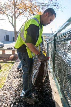 Volunteers, Lowe's workers spruce up Lodi Public Library