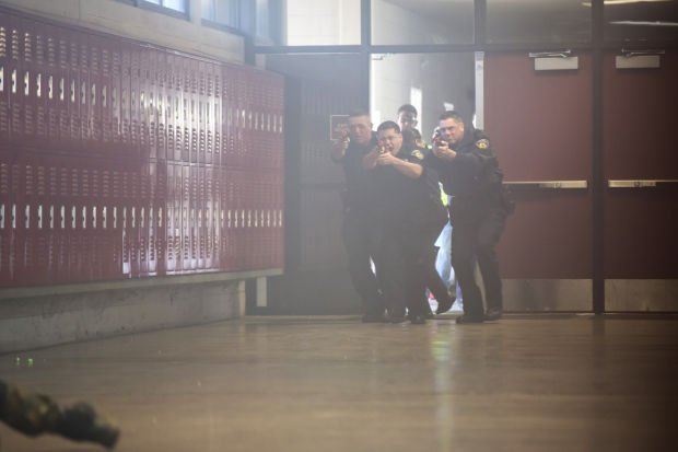 Local police train for emergency scenarios at Lodi High School