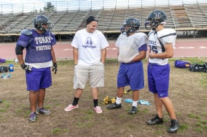 Tokay High School senior Andrae Sanchez Jr. shows gridiron grit in his fight against cancer