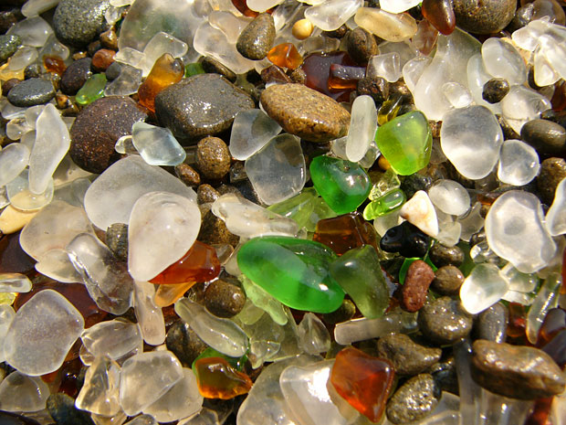 See splashes of color at Fort Bragg's Glass Beach