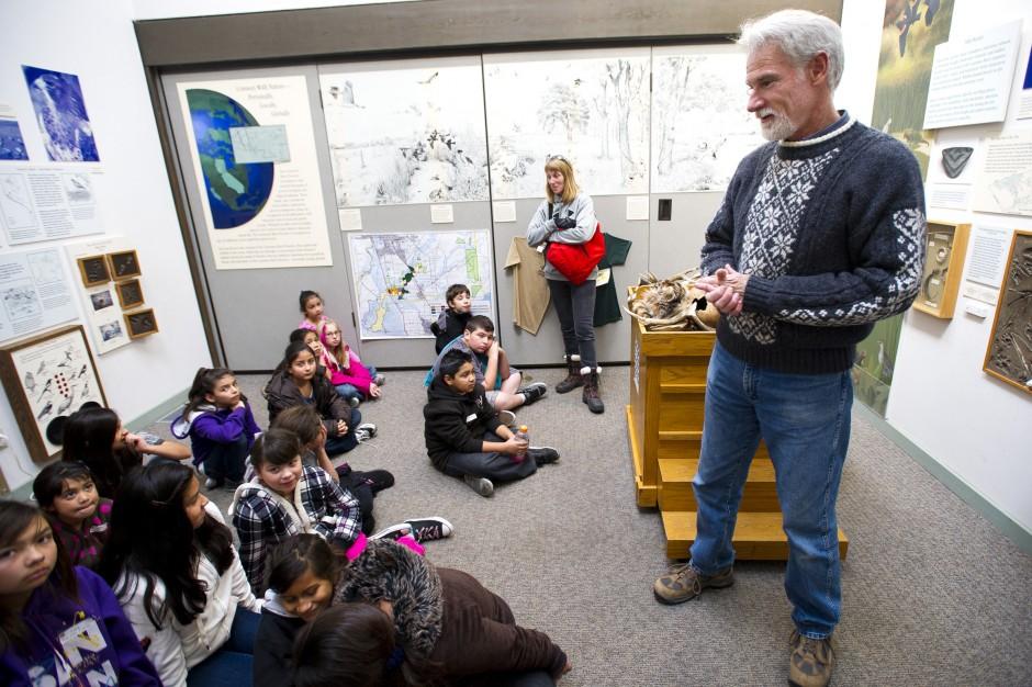 Galt Winter Bird Festival co-founder John Durand enjoys bird watching