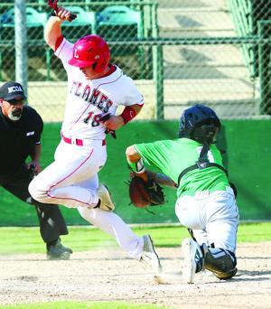 Baseball: Flames drop battle of bats