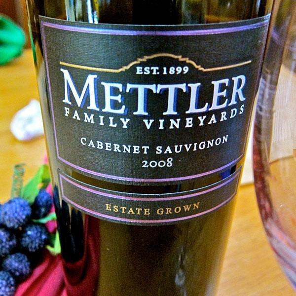 Mettler Cabernet Sauvignon has full, velvety taste