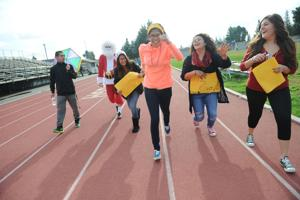 Students walk to support Tokay High School teacher Kris Goldstein