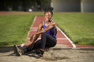 Jannell Hadnot keeps breaking records in triple jump