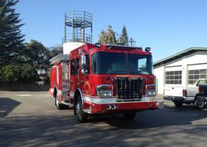 Woodbridge Fire Protection District unveils new red engine