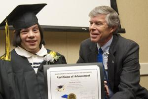 Galt transitional students graduate