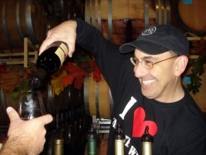The Lodi Wine Guy pours