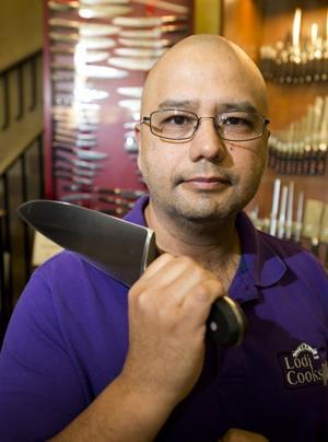 Lodi Cooks owner Meyer Puzon provides knife skills tips