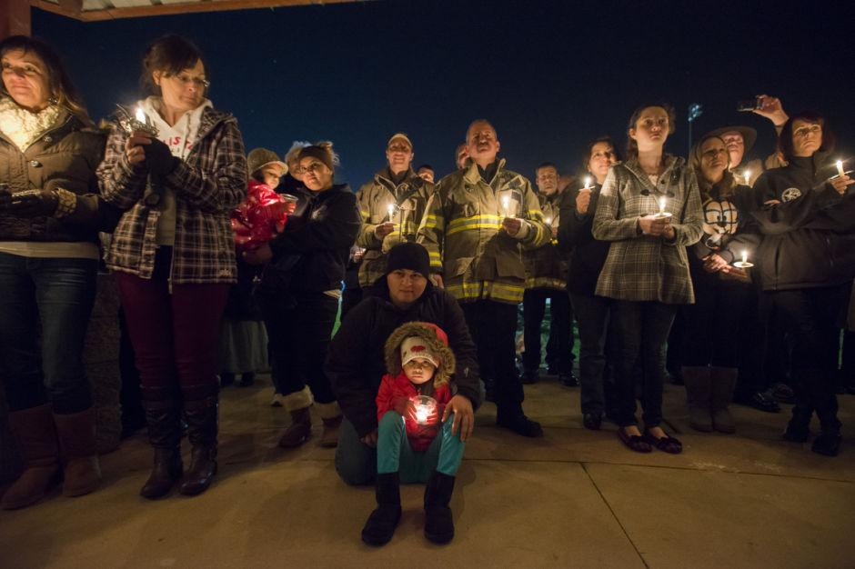 Vigil for a fallen officer