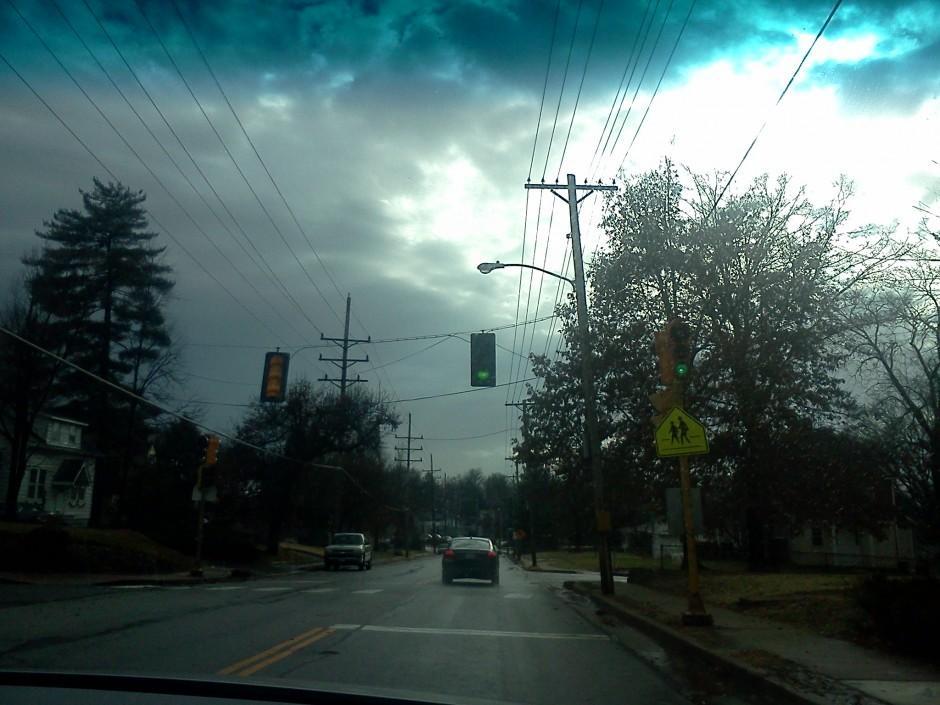 Sky after tornado