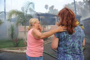 No injuries, but seven homes destroyed and two damaged after a grassfire tears through Isleton mobile home park