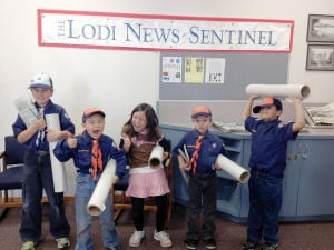 Cub Scout Troop No. 399 tours Lodi News-Sentinel building