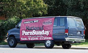 Galt pastor brings pornography out in the open