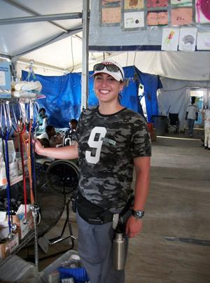 Former Lodi resident Elissa Kessler volunteered to help earthquake victims at Haiti hospital