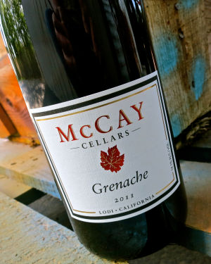 McCay's Lodi Grenache is a bright, bouncy, medium-full bodied red wine