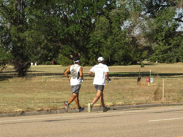 Woodbridge's Ethan Bennett nears finish line of the Run to Fight against cancer