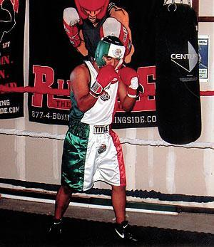 Local boxer wins first amateur fight