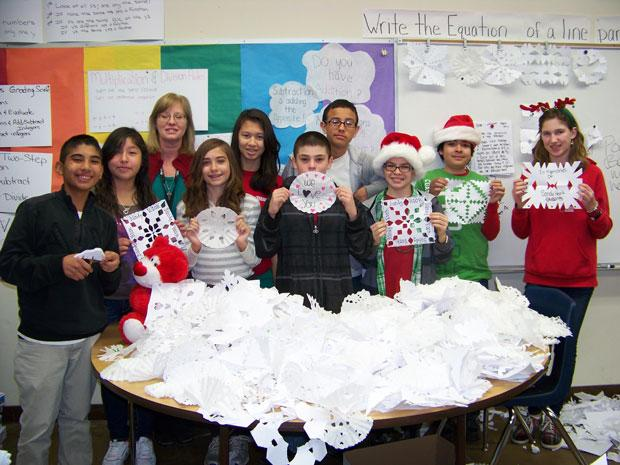 Snowflakes for Sandy Hook students