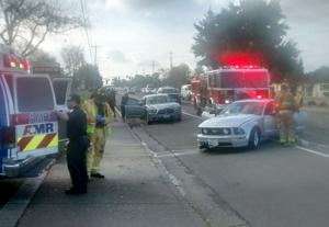 Photo: No injuries in Thursday collision