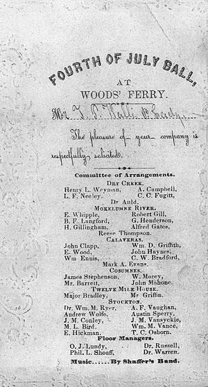 Huge 1855 celebration held at Woods' Ferry