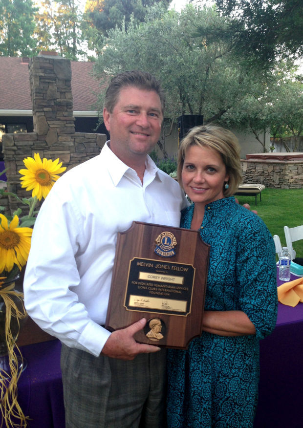 Lodi Lions Club present Melvin Jones Fellowship award