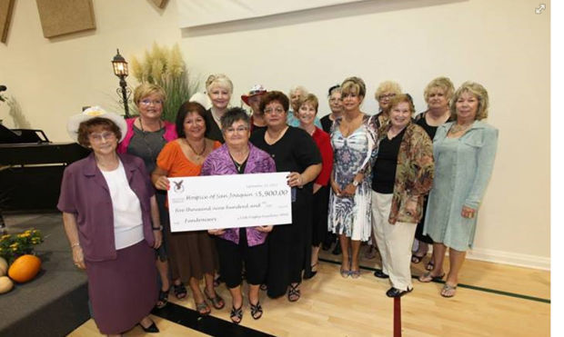 Lodi Eagles Auxiliary presents check to Butterfly Auxiliary