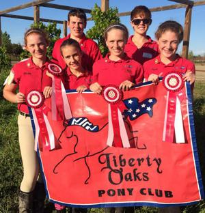 Liberty Oaks Pony Club members participate in competition