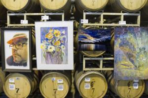 Elaborate art show unfolds in industrial barrel room