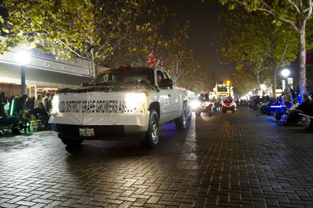 Parade of Lights — 89 floats strong — winds its way through Downtown Lodi with sports theme