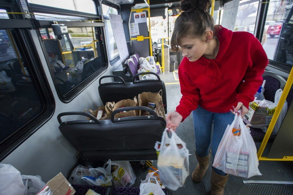 Generous shoppers Stuff the Bus for needy families