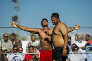 Kabaddi wrestlers step back into the ring