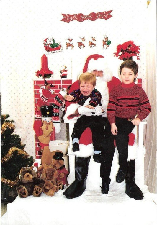 Jordan and Ryan Whitley, Christmas 1990