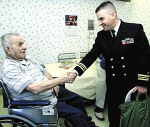 Lodi WWII veteran receives surprise visit from Navy chaplain