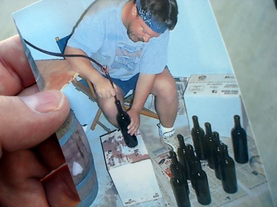 Early home winemaking days