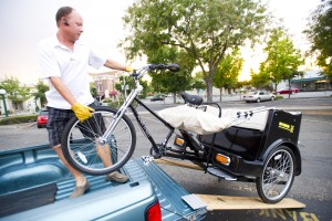 Mr. Pedicab offers rides through Downtown Lodi