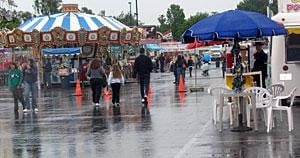 Rain slows attendance to Galt Strawberry Festival