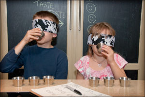 Taste testing helps incorporate new foods into the family's diet