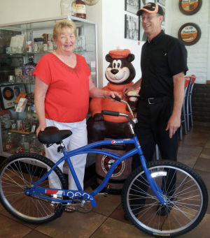 Lodian wins bike at A&W Root Beer