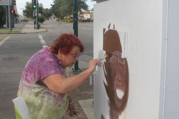Artists transform traffic boxes in Lodi