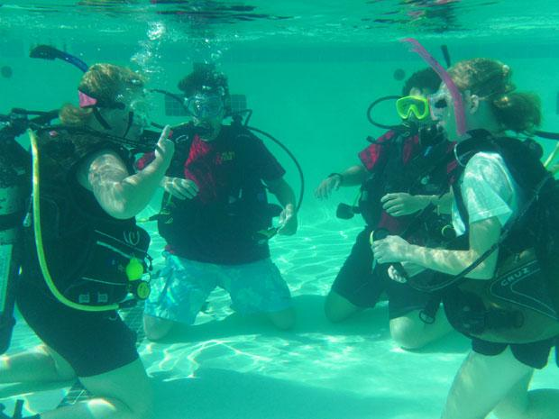 Galt Boy Scouts take to the water for diving merit badge