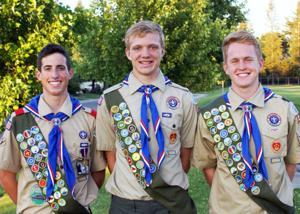 Boy Scouts earn Eagle Scout rank